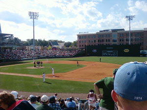 Greenville Drive baseball, Fluor Field, Downtown Greenville, South Carolina.