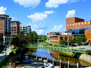 Riverplace, downtown Greenville, South Carolina.